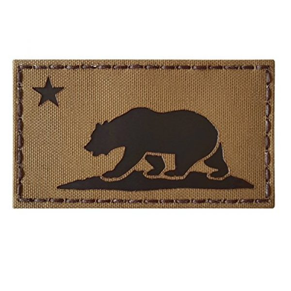 Tactical Freaky Airsoft Morale Patch 5 Coyote Brown Infrared IR California Republic State Flag 3.5x2 Tan Arid IFF Tactical Morale Touch Fastener Patch