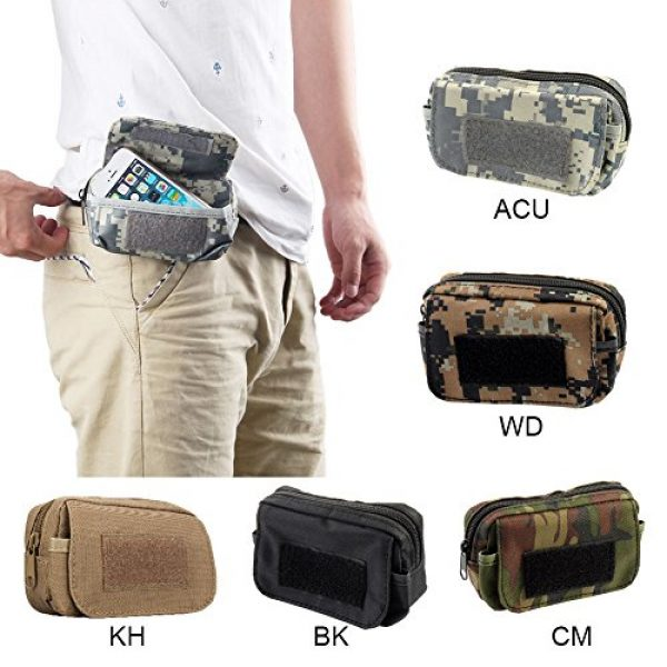 BIENNA Tactical Pouch 7 BIENNA Tactical Pouch, Small Military Bag Molle Gear [Waterproof] Nylon EDC Utility Gadget Zipper Waist Bag Pack with Phone Holster Pocket Cover Case for Vest & iPhone 7 6 6s 5 5s Galaxy S5 S6 S7