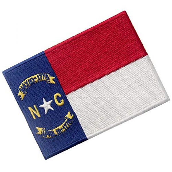 EmbTao Airsoft Morale Patch 3 North Carolina State Flag Patch NC Embroidered Applique Iron On Sew On Emblem