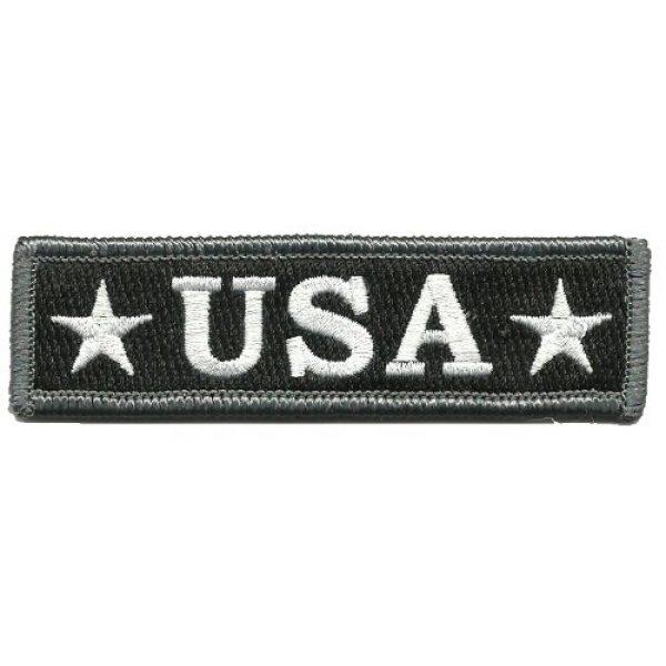 Gadsden and Culpeper Airsoft Morale Patch 1 U.S.A. Tactical Morale Patch - Black & White