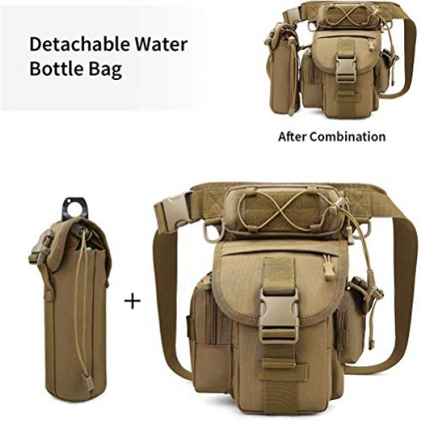 ACOMOO Tactical Pouch 3 ACOMOO Tactical Drop Leg Waist Bag Mens Outdoor Sport Thigh Hip Pack Utility Pouch Brown