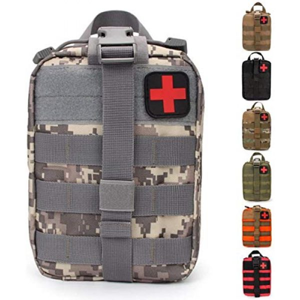 ACOMOO Tactical Pouch 1 ACOMOO Medical Emergency IFAK Life-Saving Bag Outdoor Medical kit Mountaineering/Rescue kit Made of 600D Waterproof Fabric