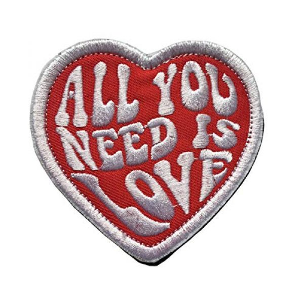Xunqian Airsoft Morale Patch 1 All You Need is Love Military Heart Funny Embroidered Morale Hook & Loop Patch (B-Love Heart)