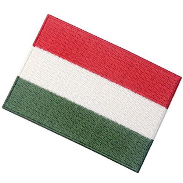 EmbTao Airsoft Morale Patch 4 Hungary Flag Embroidered Embelm Hungarian Iron On Sew On National Patch
