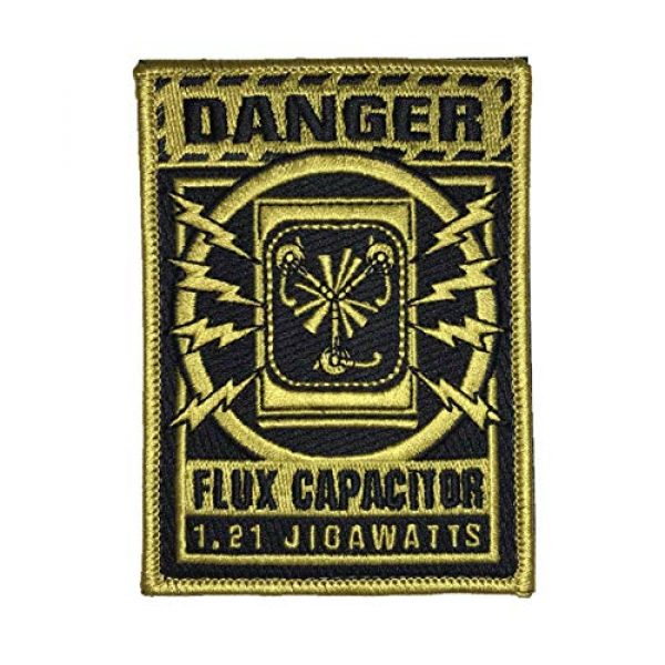 F-Bomb Morale Gear Airsoft Morale Patch 1 Flux Capacitor Warning - Embroidered Morale Patch