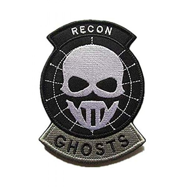 Embroidery Patch Airsoft Morale Patch 1 US Recon Ghosts Military Hook Loop Tactics Morale Embroidered Patch (color3)