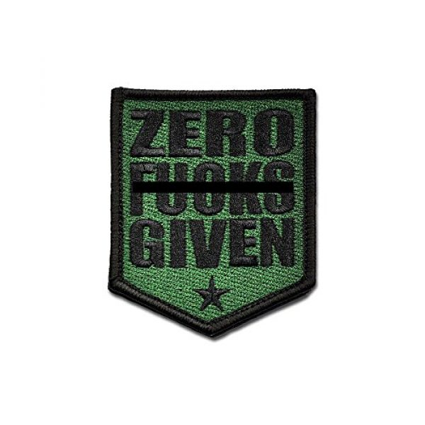 BASTION Airsoft Morale Patch 1 BASTION Morale Patches (Zero Fxxxs, ODG)   3D Embroidered Patches with Hook & Loop Fastener Backing   Well-Made Clean Stitching   Military Patches Ideal for Tactical Bag, Hats & Vest