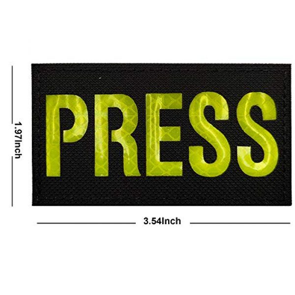APBVIHL Airsoft Morale Patch 2 IR Infrared Reflective Press Patches, Emblem Tactical Military Morale Reflection Press Hook and Loop Fastener Backing Decorative Appliques Armband Badges Sticker for Clothes, Jacket, Backpack
