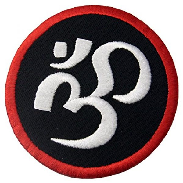 EmbTao Airsoft Morale Patch 3 Buddhist Symbol Inner Peace Patch Embroidered Morale Applique Iron On Sew On Emblem