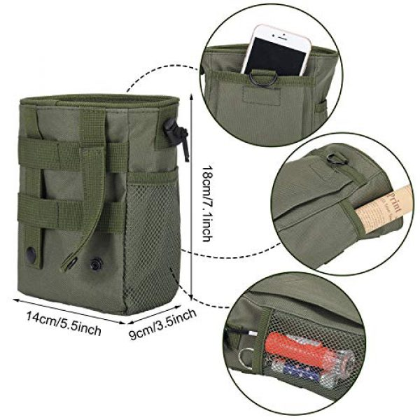 Boao Tactical Pouch 7 2 Pieces Molle Pouches Tactical Molle Dump Pouch Drawstring Magazine Dump Pouch Utility Waist Bag for Outdoor Supplies
