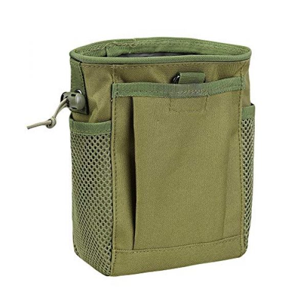 AMYIPO Tactical Pouch 1 AMYIPO Tactical Molle Drawstring Magazine Dump Pouch, Military Adjustable Belt Utility Hip Holster Bag Outdoor Mag Pouch