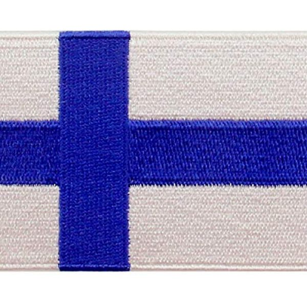 EmbTao Airsoft Morale Patch 2 EmbTao Finland Flag Patch Embroidered National Morale Applique Iron On Sew On Finnish Emblem