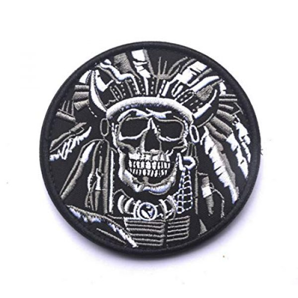 WZT Airsoft Morale Patch 1 WZT Death Skull War Chief Indian Usa Army Morale Military Tactical Swat Patch