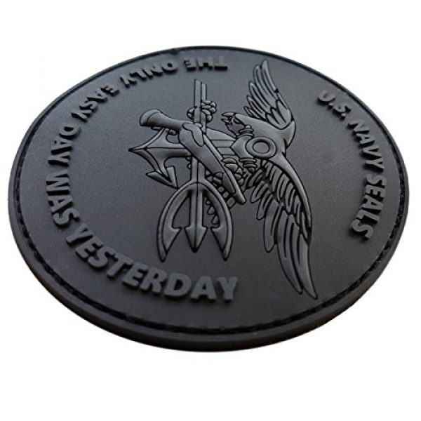 LEGEEON Airsoft Morale Patch 2 LEGEEON All Black ACU US Navy Seals The Only Easy Day was Yesterday DEVGRU Subdued Morale PVC Fastener Patch