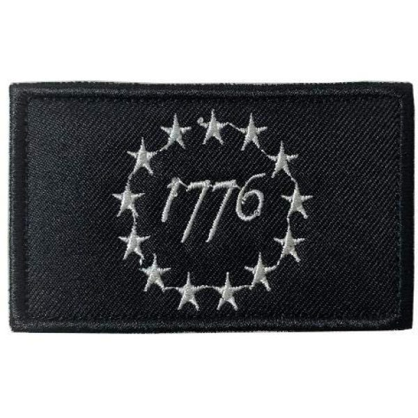 Antrix Airsoft Morale Patch 2 Antrix 2 Pcs Tactical USA American 1776 The Declaration of Independence Patriot Military Embroidered Applique Badge Emblem Hook & Loop Patch - Brown & Black(1776)