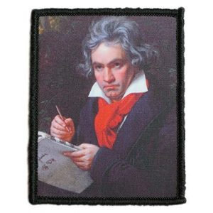 WAPPEN-YA DONGRI Airsoft Morale Patch 1 Morale Patch Hook and Loop Beethoven A0534