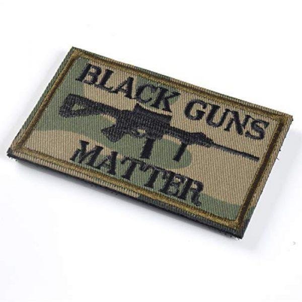 J.CARP Airsoft Morale Patch 3 Black Guns Matter - 2x3 Decorative Morale Patch (Multicam with Spice), Green