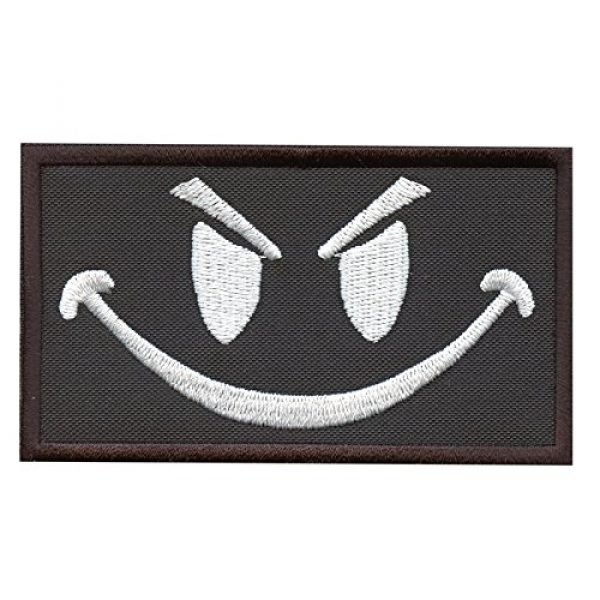 LEGEEON Airsoft Morale Patch 1 LEGEEON Smiley Evil Angry Morale Military Milspec Tactical ISAF SWAT Touch Fastener Patch