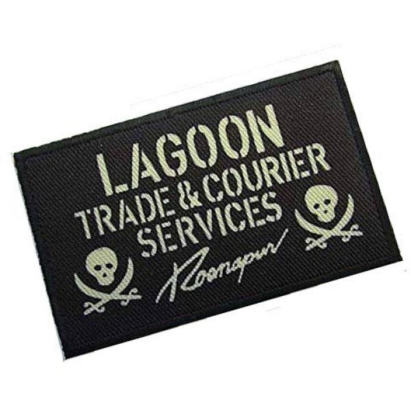 Embroidery Patch Airsoft Morale Patch 2 Black Lagoon Lagoon Military Hook Loop Tactics Morale Patch