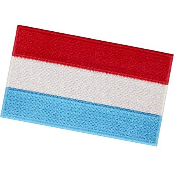 EmbTao Airsoft Morale Patch 4 EmbTao Luxembourg Flag Patch Embroidered National Morale Applique Iron On Sew On Luxembourgish Emblem
