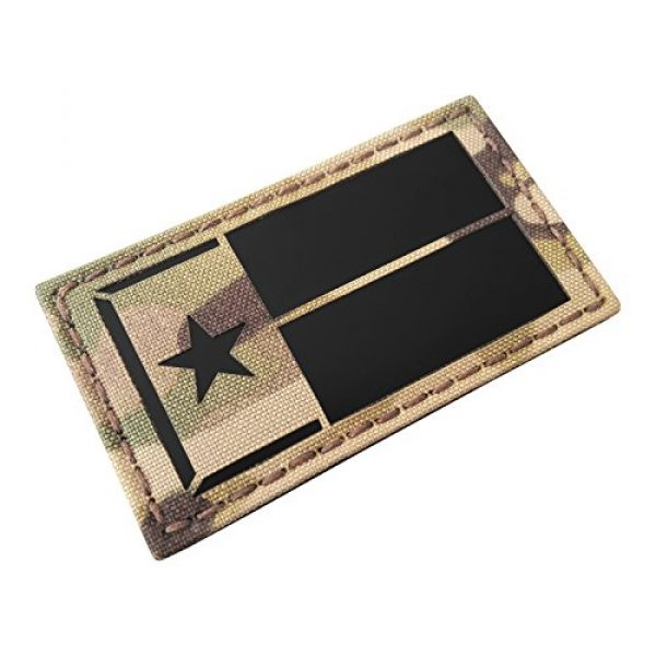 Tactical Freaky Airsoft Morale Patch 1 Multicam Infrared IR Texas Lone Star Flag 3.5x2 IFF Tactical Morale Fastener Patch