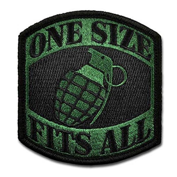 BASTION Airsoft Morale Patch 1 BASTION Morale Patches (One Size Fits All, Green) | 3D Embroidered Patches with Hook & Loop Fastener Backing | Well-Made Clean Stitching | Military Patches Ideal for Tactical Bag, Hats & Vest