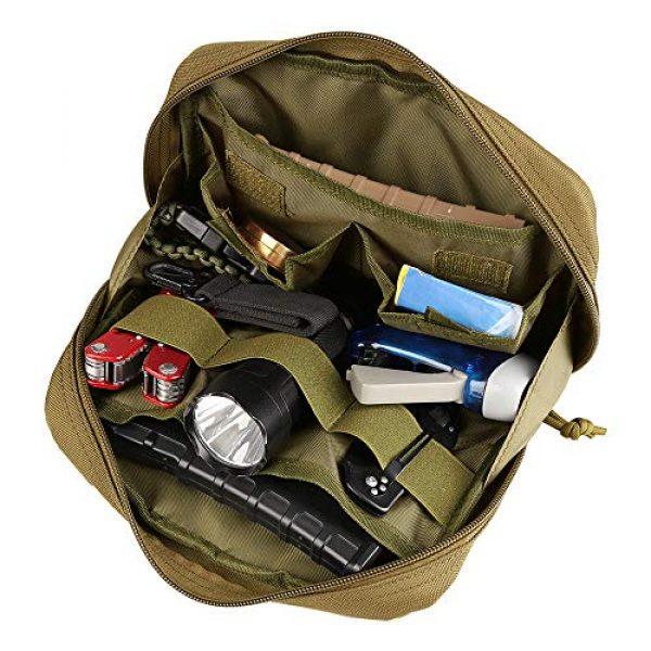 AMYIPO Tactical Pouch 6 AMYIPO Tactical Molle Admin Pouch Equipment Multi-Purpose EDC Utility Tools Bag Utility Pouches Molle Attachment Military Modular Attachment