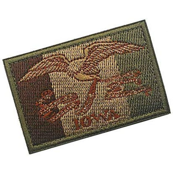 Embroidery Patch Airsoft Morale Patch 2 US Iowa State Flag Military Hook Loop Tactics Morale Embroidered Patch