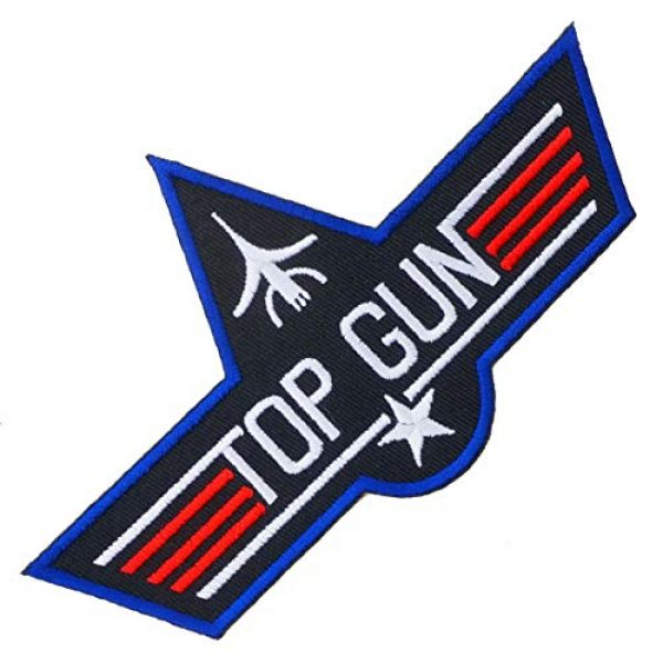 Graphic Dust Airsoft Morale Patch 1 Top Gun Iron On Embroidered Patch Logo Sew Jacket Uniform