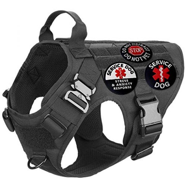 TailWag Planet Airsoft Morale Patch 6 Service Dog EMS Working Do Not Pet Distract Handler Bite Therapy Medic Paramedic Star Vest/Harnesses Tactical Morale Patch Embroidered Badge Fastener Hook & Loop Emblem, 6 Pcs