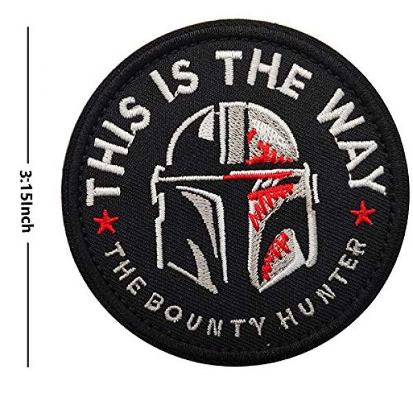 APBVIHL Airsoft Morale Patch 2 This is The Way Mandalorian Star Wars Embroidered Patches, Emblem Tactical Military Morale Funny Patch Decorative Badge, Fastener Hook and Loop Backing