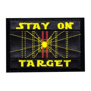 Tactical Patch Works Airsoft Morale Patch 1 Stay On Target Star Wars Inspired ArtPatch