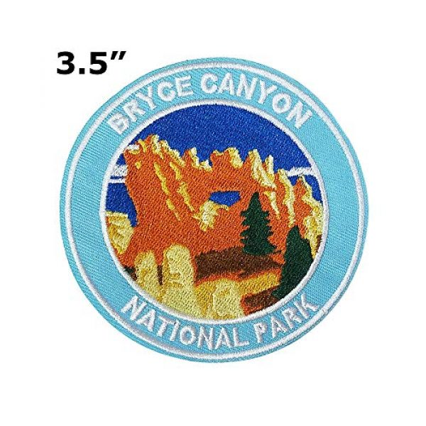 """Appalachian Spirit Airsoft Morale Patch 2 Bryce National Park 3.5"""" Embroidered Patch DIY Iron or Sew-on Decorative Vacation Souvenir Applique Wander Nature Wildlife Hike Trek Camping Explore Mountains Stars Moo Manatee"""