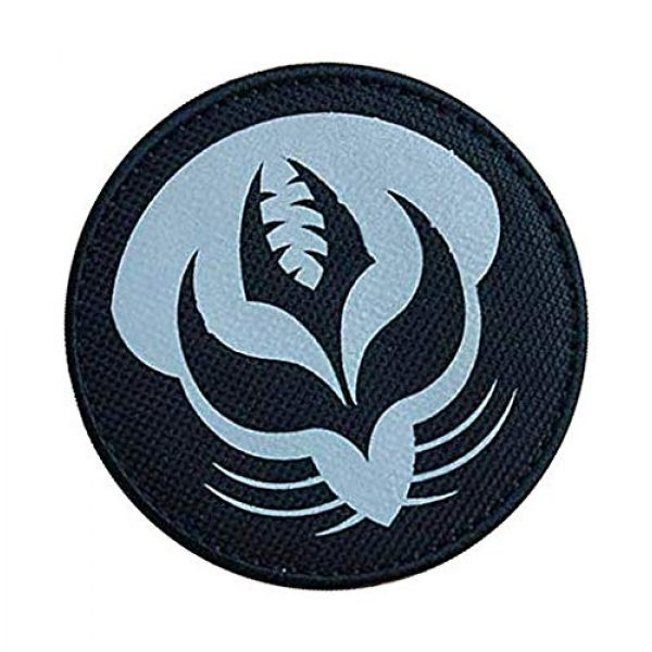 """Embroidery Patch Airsoft Morale Patch 2 SCP Foundation Special Containment Procedures Foundation SCP Mobile Task Forces Theta-4 Gardeners"""" Military Hook Loop Tactics Morale Reflective Patch"""