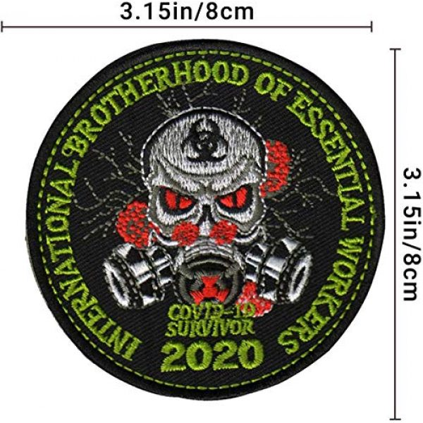 APBVIHL Airsoft Morale Patch 3 4 PCS Operation Enduring Cluster Fuck Outbreak Team Response Embroidered Patch, Brotherhood Essential Workers Embroidery Patches, Tactical Military Morale Applique Badge Fastener Hook and Loop Backing