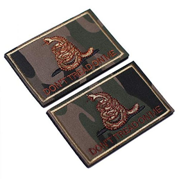 J.CARP Airsoft Morale Patch 2 2 Pieces Don't Tread on Me Tactical Patch Military Morale Patch Ruins of The Green