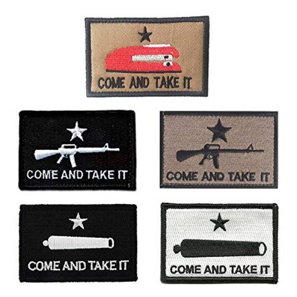 Antrix Airsoft Morale Patch 1 Antrix 5 Pack Mix Color Tactical Come and Take It Patches Texas Revolution Military Morale Patches