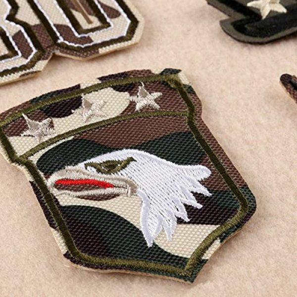 Fexo Airsoft Morale Patch 4 Tactical Military Combat Morale Patch 10 PCS Assorted US Military Patches Set for Caps, Bags, Backpacks, Tactical Vest, Military Uniforms