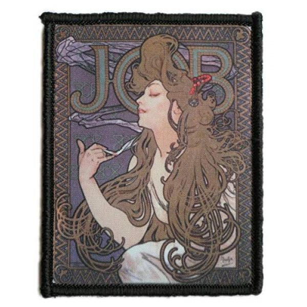 WAPPEN-YA DONGRI Airsoft Morale Patch 1 Morale Patch Hook and Loop Alfons Maria Mucha A0529 (Type2)