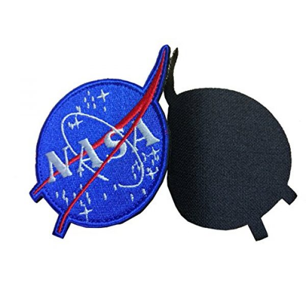 """Monte Everest Airsoft Morale Patch 2 Classic NASA Patch with Hook and Loop for Team Morale (Size: 4.3""""x 3.1""""), Blue, Average"""