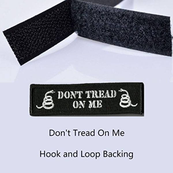GreatPlus Airsoft Morale Patch 3 Don't Tread On Me Patch Embroidered Military Tactical Morale Patches