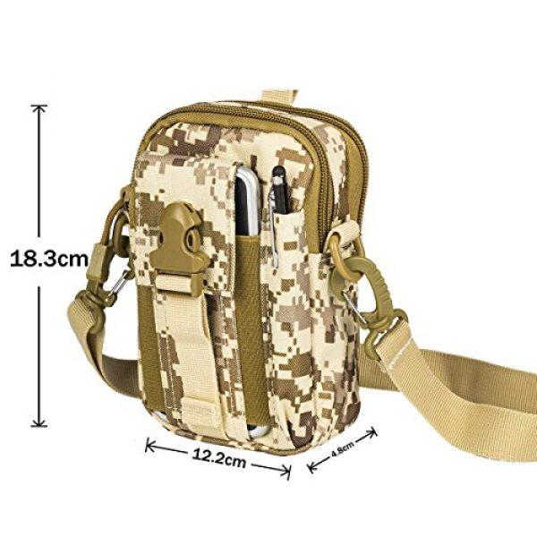 Ailuner Tactical Pouch 5 Tactical Molle Waist Bags, Waterproof Pouch, Universal Men's Outdoor Sport Casual Waist Pack Coin Purse Gear Holster Utility Pouch Phone Case (Desert)