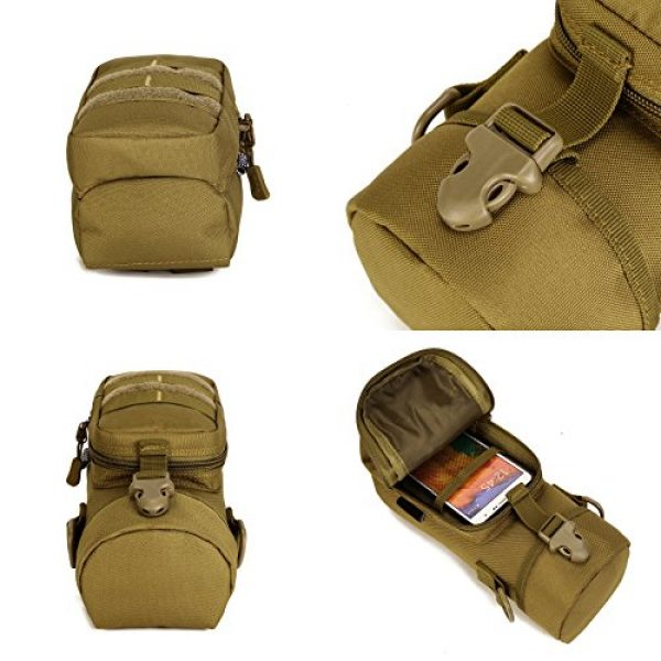 ArcEnCiel Tactical Pouch 7 ArcEnCiel Molle Water Bottle Pouch Tactical Military Kettle Set Holder Hydration Bag Carrier Pocket for Camping Climbing Cycling Hiking Travelling