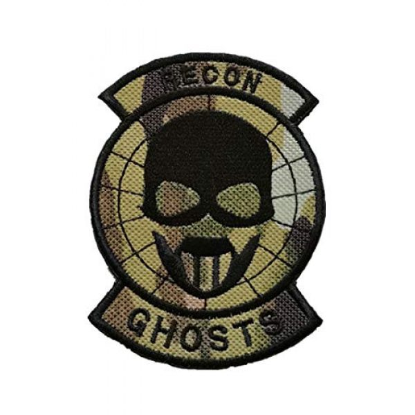 Embroidery Patch Airsoft Morale Patch 1 Ghost Recon Applique Military Hook Tactics Morale Embroidered Patch