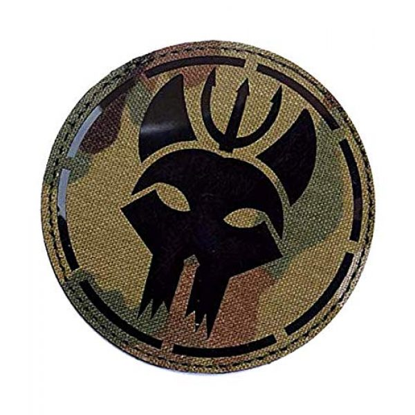 Embroidery Patch Airsoft Morale Patch 3 US Seal Team DEVGRU Military Hook Loop Tactics Morale Reflective IR Patch (color2)
