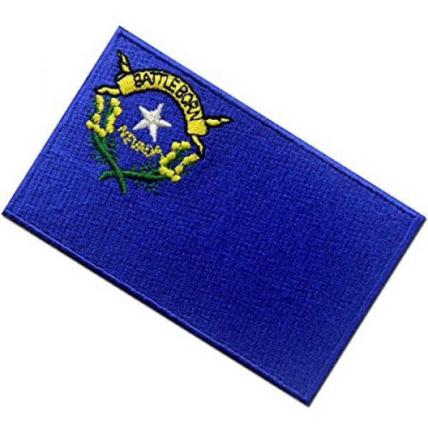 EmbTao Airsoft Morale Patch 4 Nevada State Flag Embroidered Emblem Iron On Sew On NV Patch