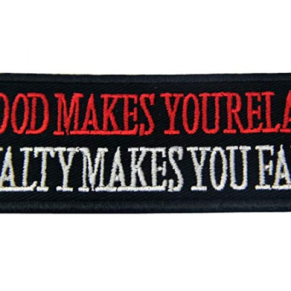 EmbTao Airsoft Morale Patch 2 EmbTao Blood Makes You Related, Loyalty Makes You Family Iron On Sew On Morale Funny Biker Patch