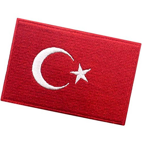 EmbTao Airsoft Morale Patch 4 EmbTao Turkey Flag Patch Embroidered National Morale Applique Iron On Sew On Turk Emblem