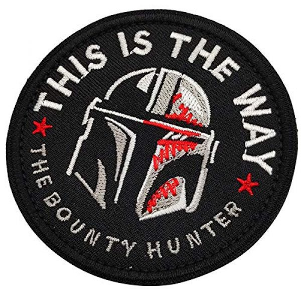 APBVIHL Airsoft Morale Patch 6 This is The Way Mandalorian Star Wars Embroidered Patches, Emblem Tactical Military Morale Funny Patch Decorative Badge, Fastener Hook and Loop Backing