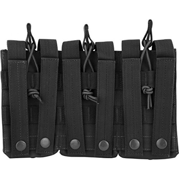BARSKA Tactical Pouch 2 BARSKA Loaded Gear Tactical Triple Stacker Open Top Magazine M4 M16 AR15 Molle Mag Pouch
